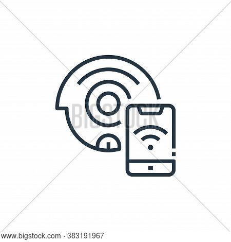 cleaning robot icon isolated on white background from smart home collection. cleaning robot icon tre