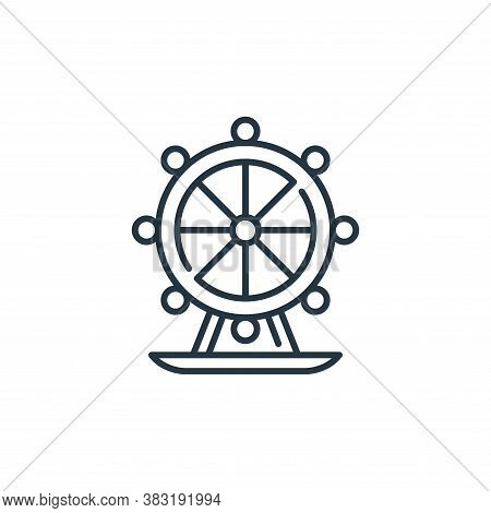 ferris wheel icon isolated on white background from england collection. ferris wheel icon trendy and