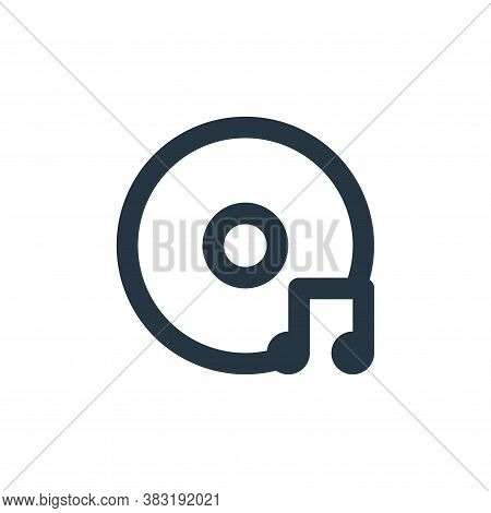 cd music icon isolated on white background from arts collection. cd music icon trendy and modern cd