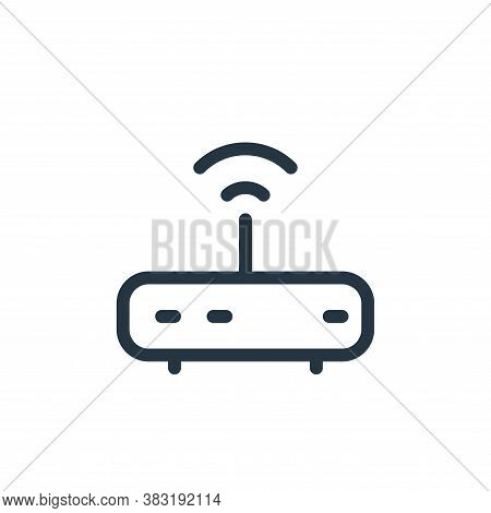 router icon isolated on white background from media collection. router icon trendy and modern router