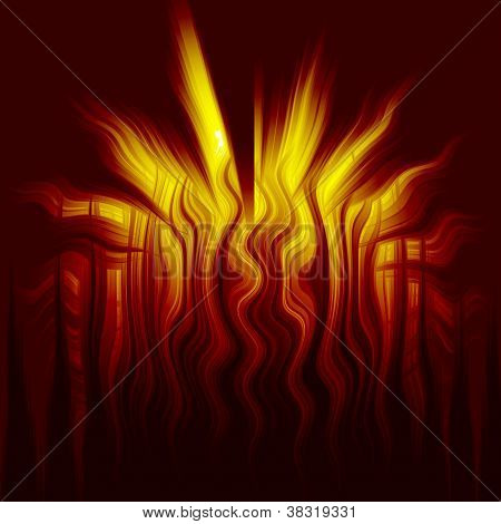 Dark Fire Abstract Twisted Background