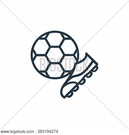 football icon isolated on white background from sport collection. football icon trendy and modern fo