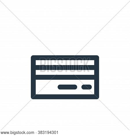 credit card icon isolated on white background from finance bank collection. credit card icon trendy