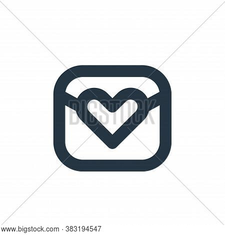 love letter icon isolated on white background from email collection. love letter icon trendy and mod