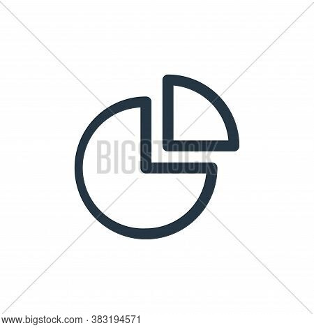 chart icon isolated on white background from finance bank collection. chart icon trendy and modern c