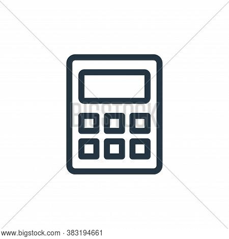calculator icon isolated on white background from ecommerce shopping collection. calculator icon tre