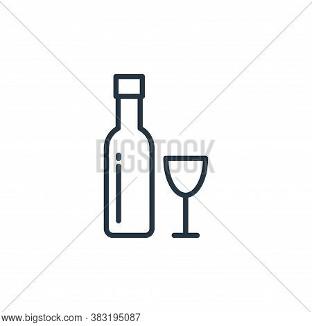 wine icon isolated on white background from food collection. wine icon trendy and modern wine symbol