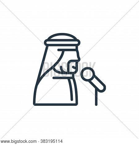 public speaking icon isolated on white background from ramadan collection. public speaking icon tren