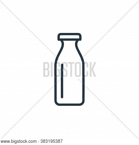 milk bottle icon isolated on white background from food collection. milk bottle icon trendy and mode