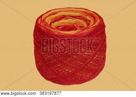 Colored Ball Of Yarn. Rainbow Colors. Yarn For Knitting. Skein Of Yarn. Isolate