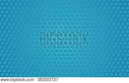 Blue Carbon Fiber Texture. Blue Metal Hexagon Texture Steel Background. Web Design Template. Abstrac