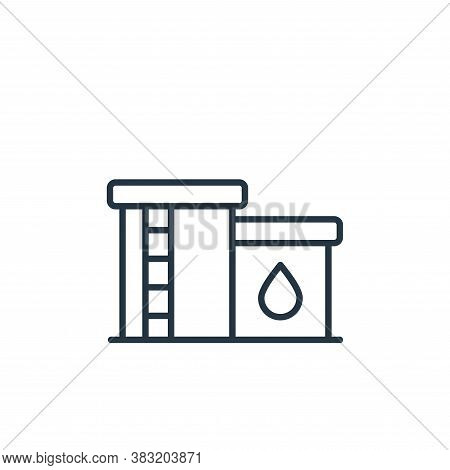 oil tank icon isolated on white background from oil industry collection. oil tank icon trendy and mo