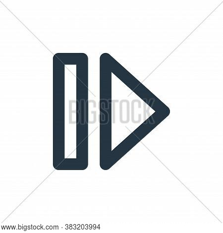 next track icon isolated on white background from user interface collection. next track icon trendy