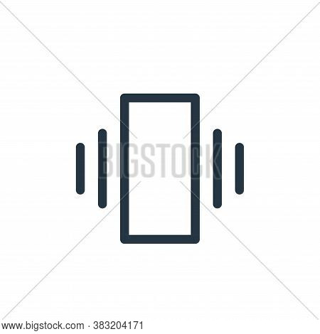 vibrate icon isolated on white background from smartphone ui ux part collection. vibrate icon trendy