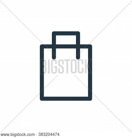 package icon isolated on white background from finance bank collection. package icon trendy and mode