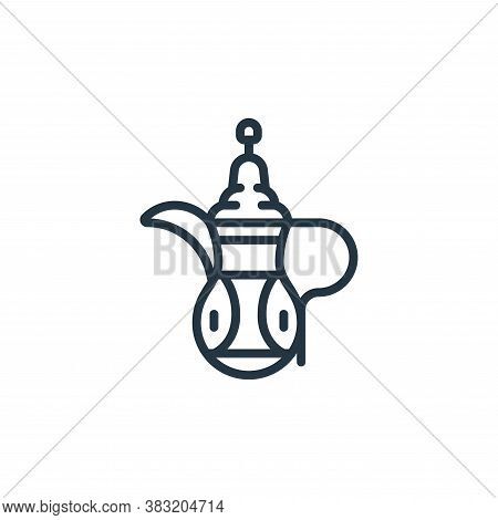 teapot icon isolated on white background from ramadan collection. teapot icon trendy and modern teap