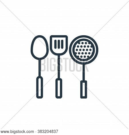 kitchen tools icon isolated on white background from kitchen collection. kitchen tools icon trendy a