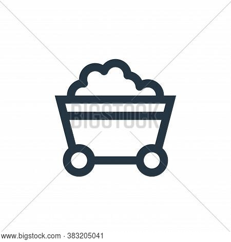mining cart icon isolated on white background from industry collection. mining cart icon trendy and
