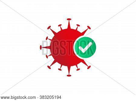 Antiviral Antibacterial Corona Virus Formula Vector Icons. Safe From Corona, Corona Protection Logo