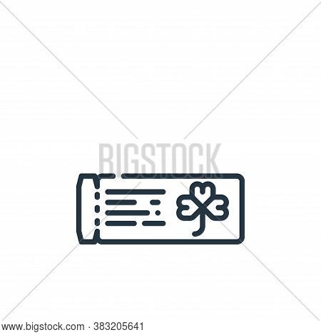 ticket icon isolated on white background from st patricks day collection. ticket icon trendy and mod