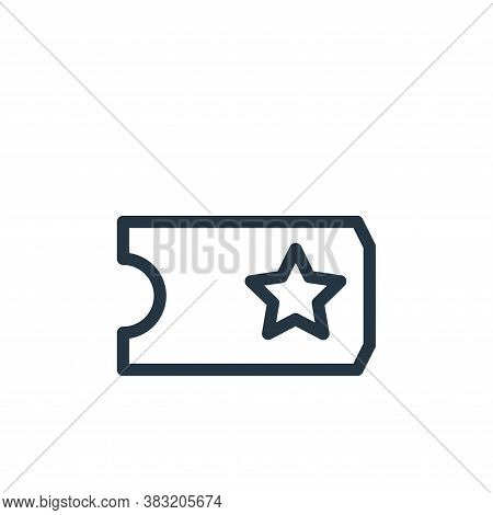 tickets icon isolated on white background from shopping collection. tickets icon trendy and modern t