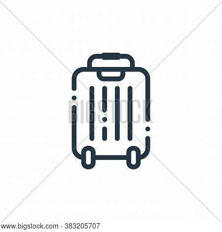 suitcase icon isolated on white background from travel and adventure collection. suitcase icon trend