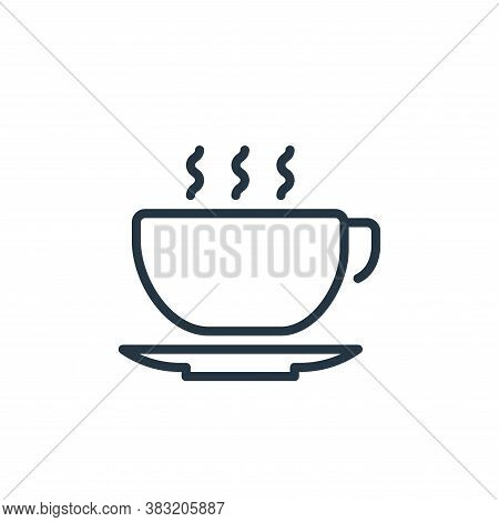 coffee cup icon isolated on white background from kitchen collection. coffee cup icon trendy and mod