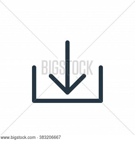 download icon isolated on white background from smartphone ui ux part collection. download icon tren
