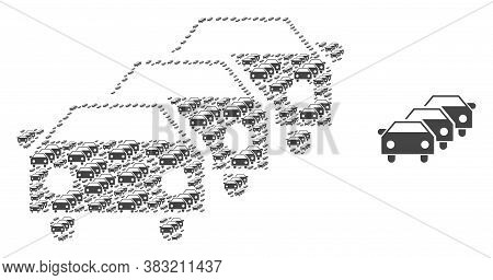 Vector Car Traffic Jam Composition Is Composed With Repeating Recursive Car Traffic Jam Parts. Recur