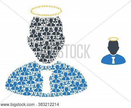 Vector Holy Person Composition Is Done With Random Recursive Holy Person Pictograms. Recursion Compo
