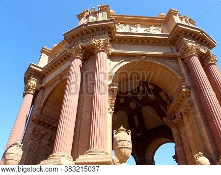 The Palace Of Fine Arts In The Marina District Of San Francisco, California Is A Monumental Structur