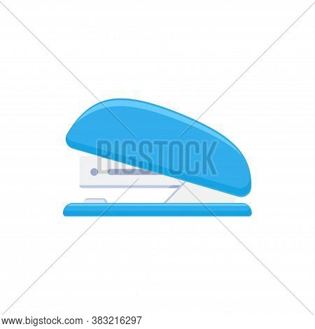 Stapler Tacker Isolated On White Background. School And Office Supplies Collection. Flat Vector Illu