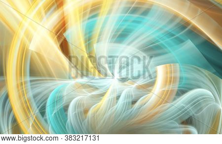 Abstract Color Dynamic Textured Background With Lighting Effect. Fractal Spiral. Fractal Art