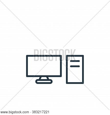 computer icon isolated on white background from smart devices collection. computer icon trendy and m