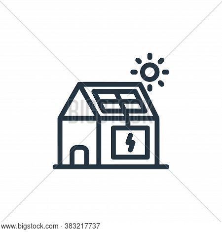 solar house icon isolated on white background from ecology line collection. solar house icon trendy