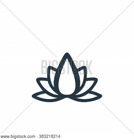 lotus icon isolated on white background from flower collection. lotus icon trendy and modern lotus s
