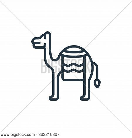 camel icon isolated on white background from ramadan collection. camel icon trendy and modern camel