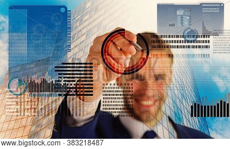 Mining Crypto Currency. Solve Block Earn Profit. Blockchain Technology. Future Digital Money. Invest