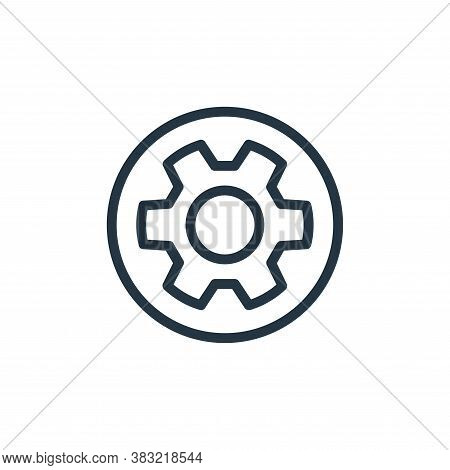 settings icon isolated on white background from media player collection. settings icon trendy and mo