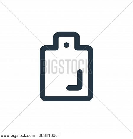 cutting board icon isolated on white background from kitchen collection. cutting board icon trendy a