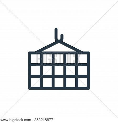 containers icon isolated on white background from shopping collection. containers icon trendy and mo
