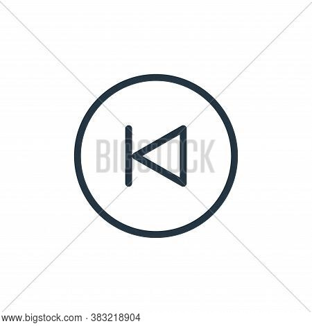 previous track icon isolated on white background from media player collection. previous track icon t