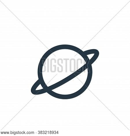 planet icon isolated on white background from science collection. planet icon trendy and modern plan