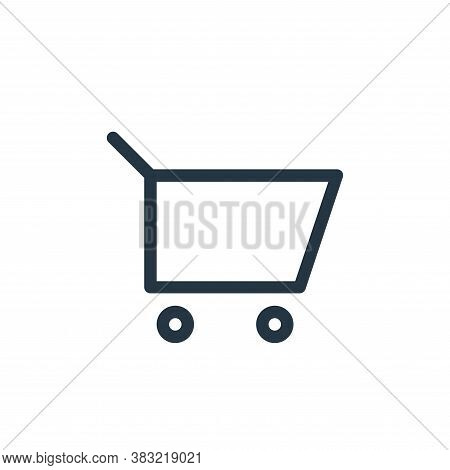 cart icon isolated on white background from finance bank collection. cart icon trendy and modern car