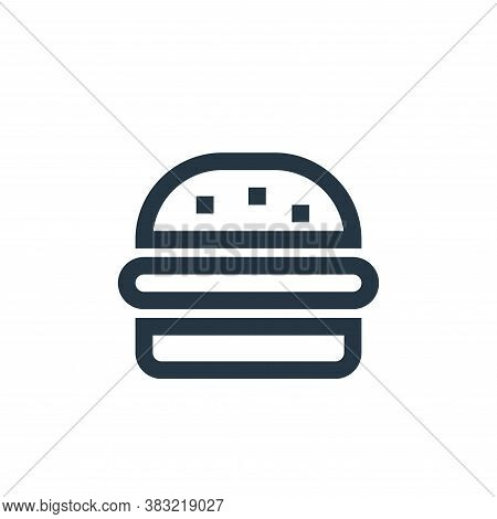 burger icon isolated on white background from restaurant collection. burger icon trendy and modern b