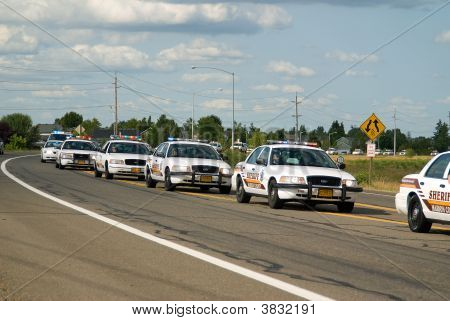 Funeral For An Oregon Deputy Sheriff.