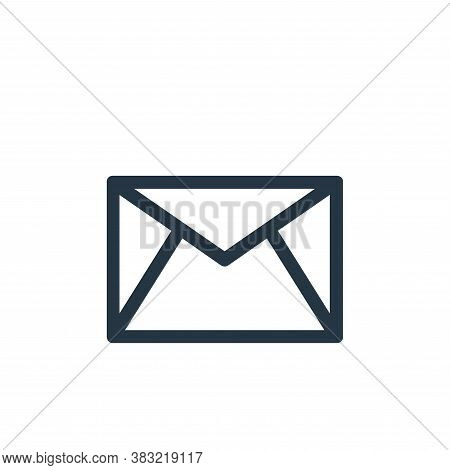 email icon isolated on white background from smartphone ui ux part collection. email icon trendy and