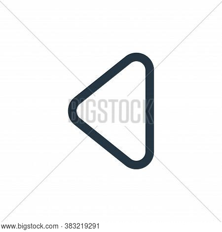 back icon isolated on white background from smartphone ui ux part collection. back icon trendy and m