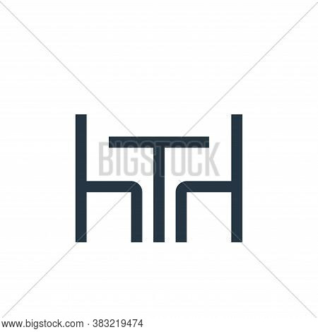 table icon isolated on white background from restaurant collection. table icon trendy and modern tab