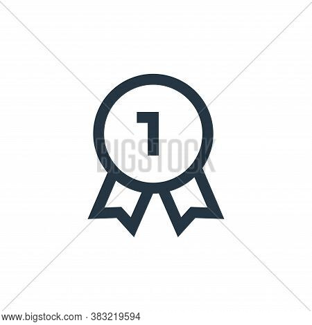 first place icon isolated on white background from marketing collection. first place icon trendy and